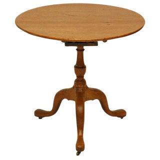 Georgian Mahogany Tilt Top Table For Sale