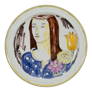 Wilhelm Kage Plate with Portrait of a Woman For Sale