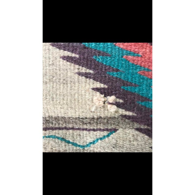 Native American 1970s Vintage Navajo Style Rug - 3′11″ × 1″ For Sale - Image 3 of 5