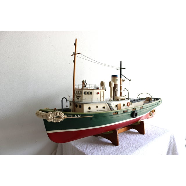 """1950s Artisan Carved Wood Boat Pa-Lan """"Cincinnati"""". NOTE - WE CAN ASSIST WITH CUSTOMER ARRANGED SHIPPING: SELECT LOCAL..."""