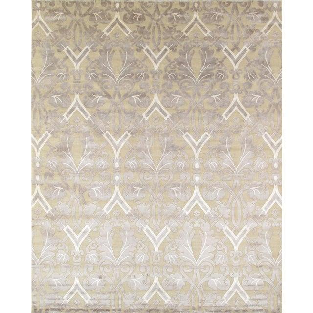 Pasargad Modern Silk & Wool Rug - 9′2″ × 11′10″ - Image 1 of 4