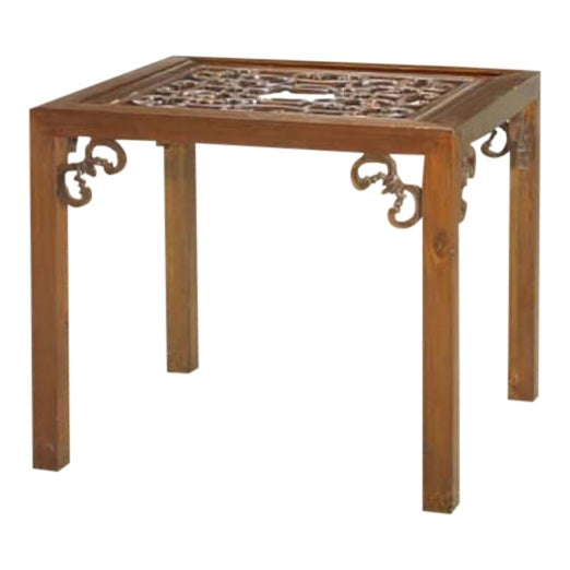 Carved Side Table from China For Sale