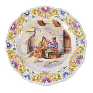 Lille Faience Plate France c.a 1767 / 18th Century For Sale