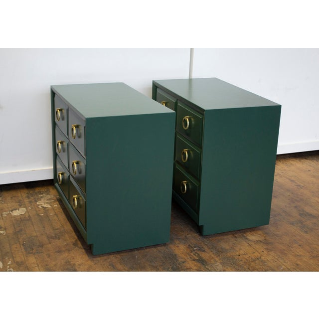 Green Pair of Chest Dressers by t.h. Robsjohn-Gibbings for Widdicomb For Sale - Image 8 of 9