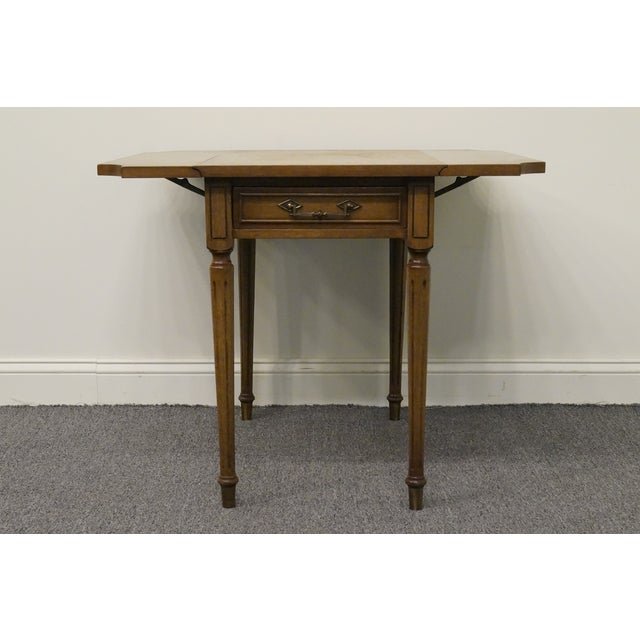 20th Century Traditional Columbia Manufacturing Mahogany Pembroke End Table For Sale - Image 4 of 13