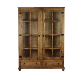 Sienna Dark Honey Curio China Cabinet