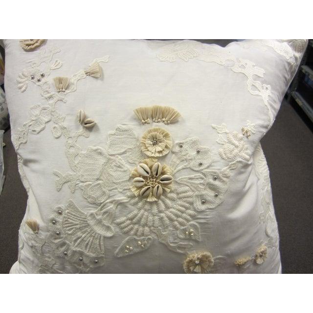 White & Tan Decorative Pillows - Set of 5 - Image 4 of 7