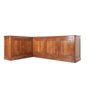 French 19th Century Louis Philippe Cherry Corner Enfilade For Sale