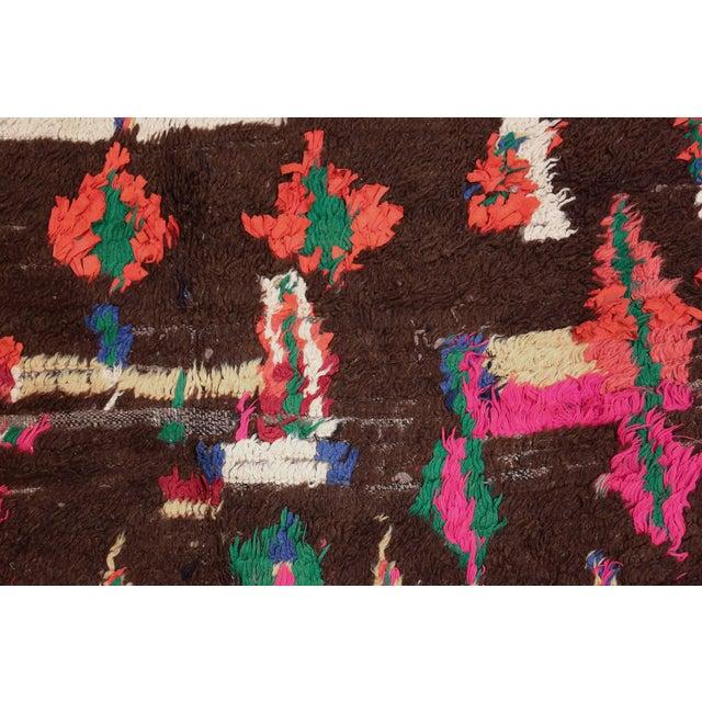 Mid-Century Vintage Folk Art Moroccan Rug - 4′9″ × 10′4″ For Sale - Image 4 of 10
