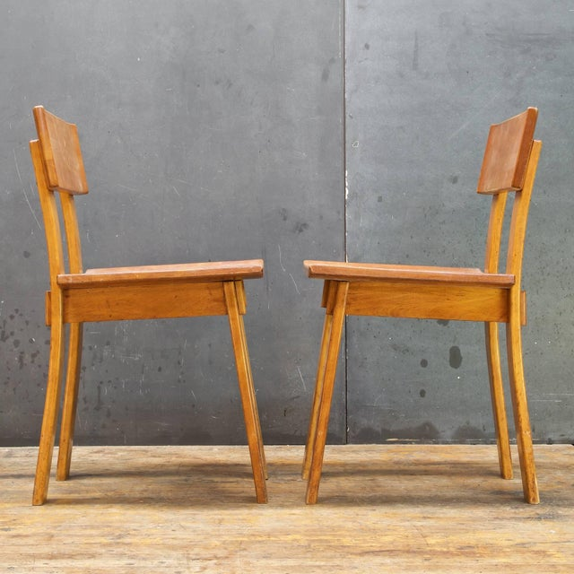 1930s 1930s Vintage Russel Wright American Modern Furniture Design Chairs- a Pair For Sale - Image 5 of 10