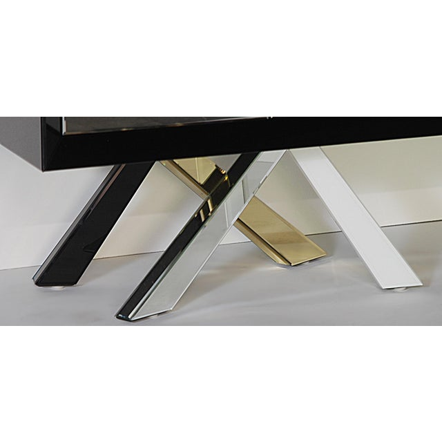 Mid-Century Modern Style Mirrored Cabinet - Image 4 of 4