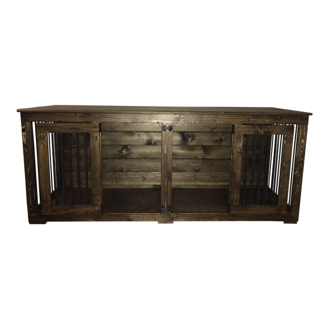 B&B Kustom Kennels Double Doggie Den Rustic Credenza For Sale