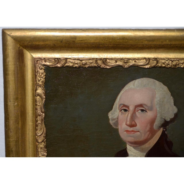 Early 19th Century Early 19th Century Portrait of George Washington Oil Painting C.1837 For Sale - Image 5 of 11