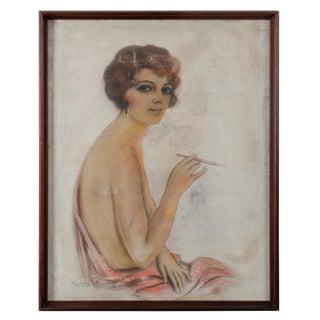 1920s Vintage Frederick S. Manning Flapper Girl Cover Art Illustration For Sale