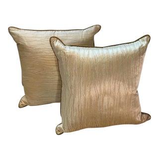 Custom Silk Yellow Pillows - A Pair