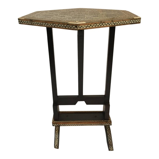 Egyptian Octagonal Side Table For Sale