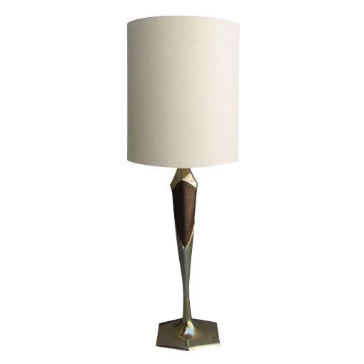Tall Sculptural Art Deco Laurel Table Lamp For Sale