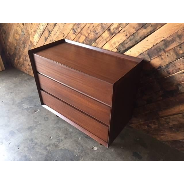 Architectural Modern Refinished Walnut Dresser by Morris For Sale - Image 5 of 7