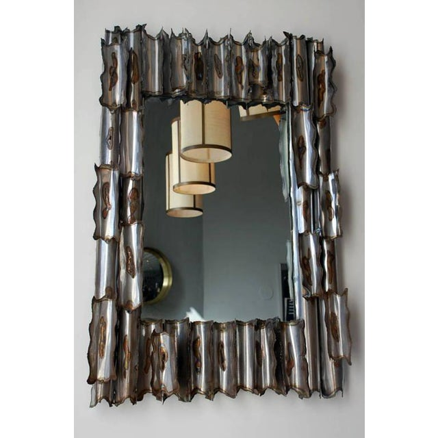 Exceptional American Brutalist Mirror For Sale In Los Angeles - Image 6 of 6