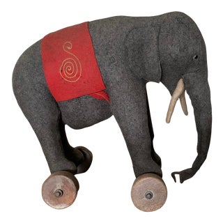 1920s Toy Elephant on Wheels by Steiff of Germany For Sale