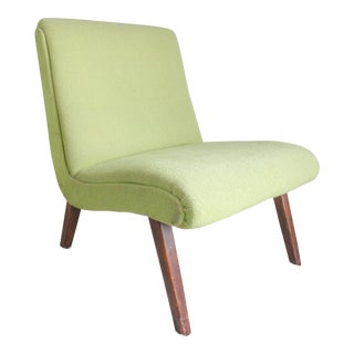 1950s Vintage Jens Risom 654u Vostra Lounge Chair For Sale