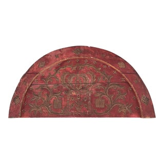 1920s Vintage Half Circle Over Door Wall Decor For Sale