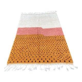 Moroccan Modern Wool Handmade Rug-5′7″ × 9′6″ For Sale
