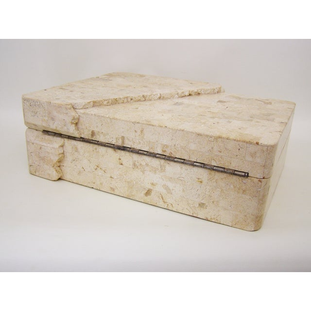 Maitland-Smith Vintage Travertine Marble Box For Sale In Miami - Image 6 of 11