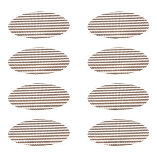 Tan Medium Stripe Placemats - Set of 8