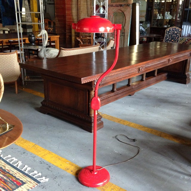 Red Industrial Floor Lamp - Image 2 of 8