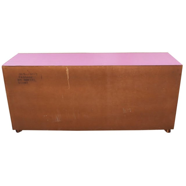 Purple 1980s Vintage Drexel Chest of Drawers For Sale - Image 8 of 9