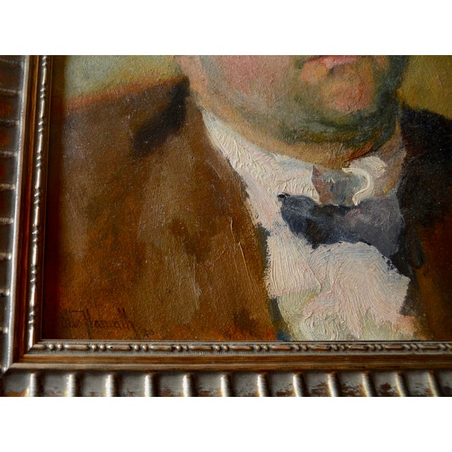 Otto Hanrath Oil Painting Portrait For Sale - Image 4 of 7