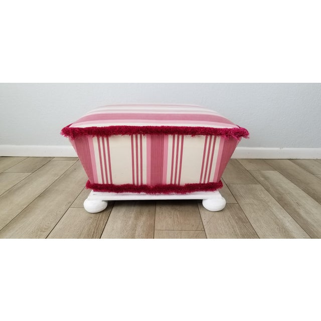 Hollywood Regency Style Ottoman . For Sale - Image 9 of 12