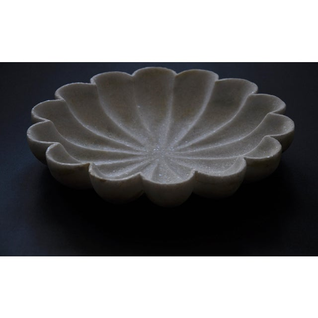 """Marble Flower 12"""" Bowl For Sale - Image 4 of 6"""