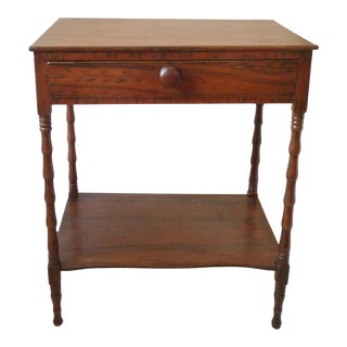 American 19th C. Faux Grain Painted Side Table For Sale