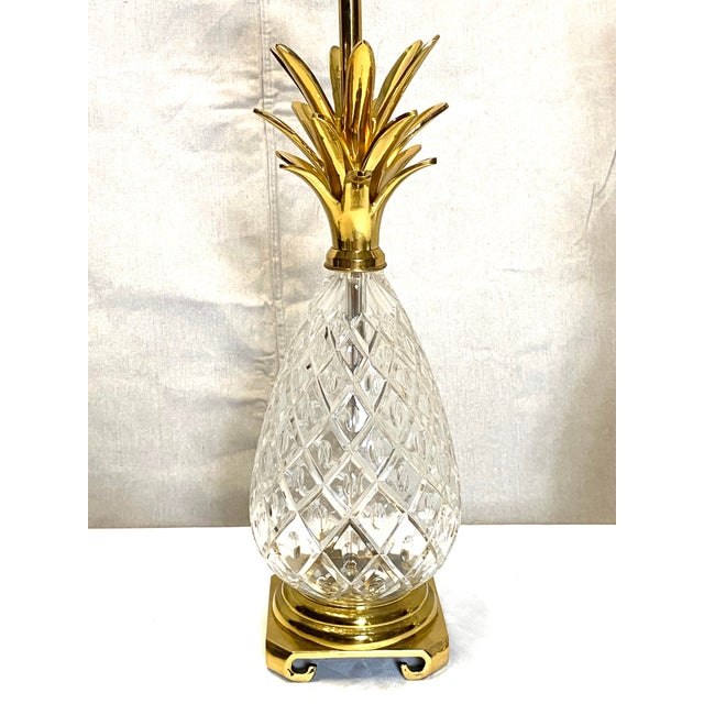 Fabulous Vintage Wildwood Crystal Brass Pineapple Table Lamps - a Pair Very nice overall condition. No cracks, damages, or...
