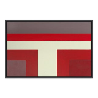 Abstract Ron Burgundy No. 1 - Framed Print 32x48 For Sale