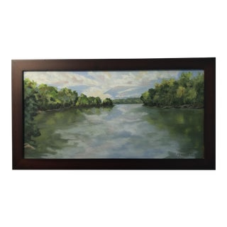 River Bend Oil on Canvas Painting For Sale