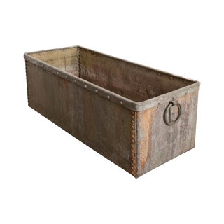 English 19th Century Zinc Trough For Sale