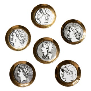 Fornasetti Coaster Set of Six For Sale