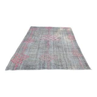 "Handwoven Turkish Bohemian Floor Rug - 6'3"" x 8'7"""