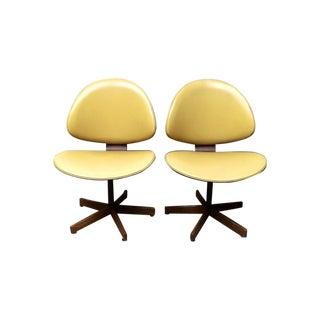 Mid Century Modern Kodawood Swivel Chairs - a Pair