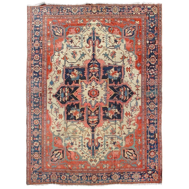Islamic Serapi Persian Carpet - 12′1″ × 15′6″ For Sale - Image 3 of 3