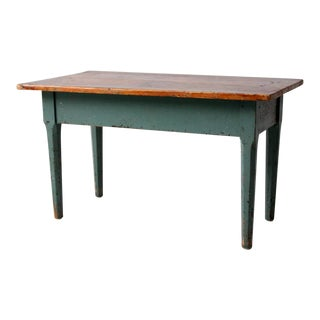 Vintage Painted Wooden Coffee Table For Sale
