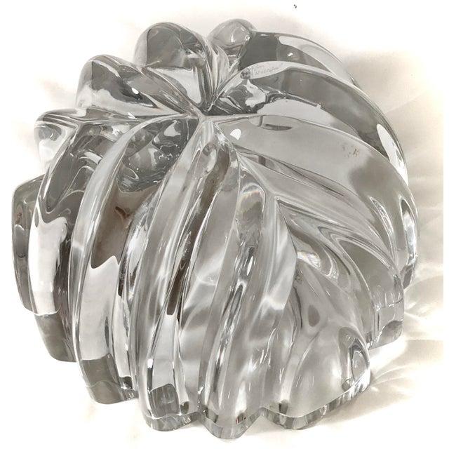 1970s Orrefors Swedish Signed Crystal Isabella Bowl For Sale - Image 9 of 12