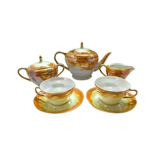 Lusterware Tea for Two Set For Sale