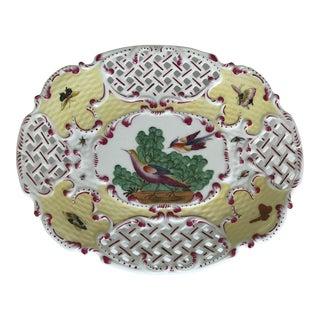Chelsea House Exotic Bird Vintage Pierced Decorative Plate For Sale
