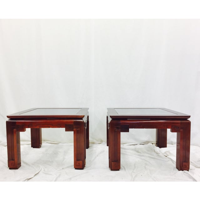 Asian Vintage Asian Ming Style Side Tables - A Pair For Sale - Image 3 of 10
