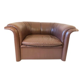 Leather Chair Dunbar by Dennis Christiansen For Sale