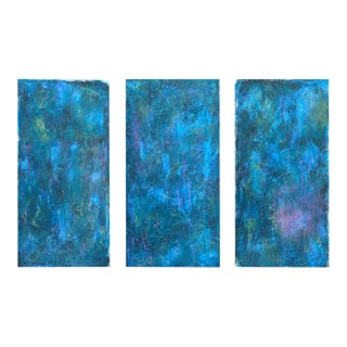 "Abstract Paintings ""Infectious Effects"" by Mishal Mohan - Set of 3 For Sale"